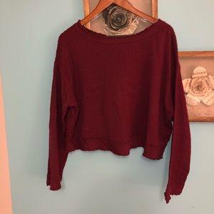 NEW Free People Burgundy Sweater